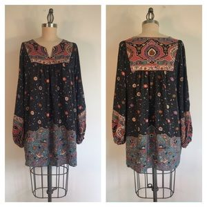 Mes Demoiselles long silk floral blouse sz 38